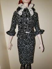2017 SILKSTONE BARBIE  **DRESS & JACKET ONLY*** BLACK &WHITE TWEED SUIT DRESS
