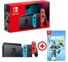 Nintendo Switch Neon Joy-cons + Fortnite Deep Freeze Console + Game Bundle