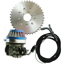 2 stroke 49cc 66cc 80cc Engine Bicycle Motor Sprocket Racin Carb Kit Blue