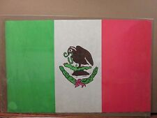Vintage 1970's Mexican flag Mexico poster brown pride eagle snake 11786