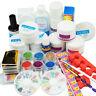 Acrylic UV Gel Full Kit Set Nail Art Powder Glitter Liquid Primer Tool Brush Tip