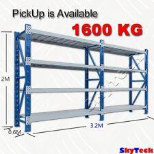 2.4x2x0.6M Garden Garage Warehouse Steel Rack Storage Metal Shelves1600KG-2420BG