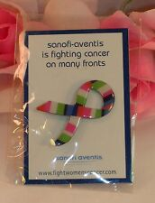 New in Package Sanofi-Aventis Cancer Ribbon Pin