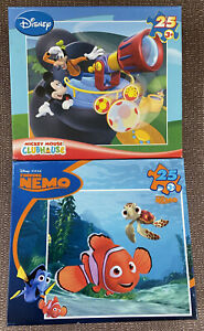 Lot of 2 NWT Disney Puzzles Mickey Mouse ClubHouse & Nemo 25 Pieces for Kids 3+