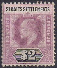 Malaysia Straits Settlements 1905 $2 dull purple & black sg 137 mint hinged