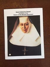 ST. KATHERINE DREXEL 3RD CLASS RELIC + HOLY CARD