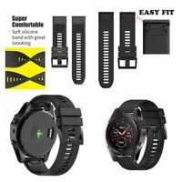 Silicone Quick Install Band Easy Fit Wrist Strap For Garmin Fenix 3/5X GPS Watch