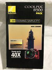 Nikon COOLPIX B500 RED Camera 40x Optical Zoom + Case - 16GB Kit Bundle