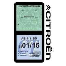 Porte vignette assurance CITROEN double étui adhésif voiture Stickers auto rétro