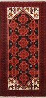 Tribal Geometric Balouch Afghan Oriental Area Rug Wool Hand-knotted 3x5 Carpet