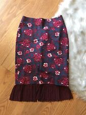 NWT Anthropologie Maeve Nico Pencil Skirt Sold Out Sz 00 Blue