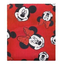 MINNIE MOUSE RED 100% Cotton Fabric Material 1 YARD MASKS
