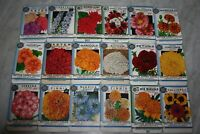 "New Find! 18 Vintage 1934 ""Better Homes"" Flower Seed Packets Crosman Seed Co."
