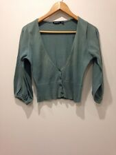 Atmosphere Green Cardigan Size 8-10 - <E3179