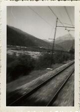 PHOTO ANCIENNE - VINTAGE SNAPSHOT - TRAIN VITESSE RAIL PAYSAGE - SPEED
