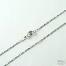 Ladies Solid 9ct White Gold 20 inch Curb Pendant Chain 1.9g RRP £110