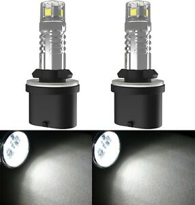 LED 20W 880 H27 White 5000K Two Bulbs Fog Light Replacement Upgrade Lamp Stock