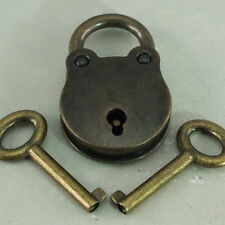 Old Vintage Antique Style Small Padlocks Key Lock - 3x