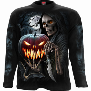 Spiral Direct CARVING DEATH LONG SLEEVE T-SHIRT/Zombies/Horror/Halloween/Goth/