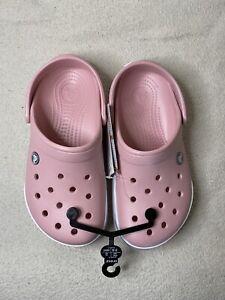 Crocs Crocband II Clogs, Petal Pink & Gray Women Size 7