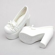 1/3 White SD DOD BJD Dollfie High-Heels Synthenic Leather Shoes
