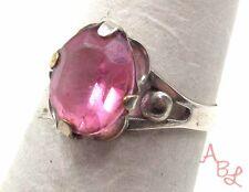 Sterling Silver Vintage 925 Faceted Filigree Pink Topaz Ring Sz 6 (2.1g) -561573