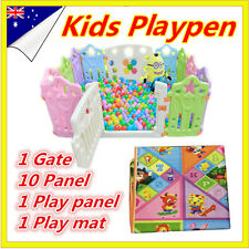12 Sided Panel Toddler Kids Baby Boy Safety Playpen Divider Square Play Pens Mat