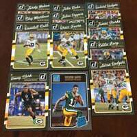 2016 Donruss Green Bay Packers Team Set w RC 12 Cards Bret Favre Aaron Rodgers
