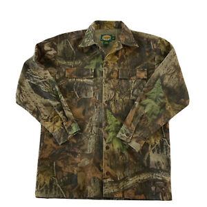 Cabela's Camo Long Sleeve Button Front Shirt Youth Size 16 Reg