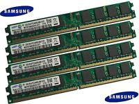 Samsung 8GB (4x 2GB) DDR2 533/667/800 MHz Arbeitsspeicher RAM Desktop PC2-6400