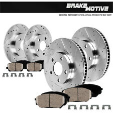 Front & Rear Drill Slot Brake Rotors And 8 Ceramic Pads For Lesabre Bonneville