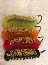 12 Pack Custom Color Woolyback Catfish Dip Bait Stinkbait Worms w Single Hook