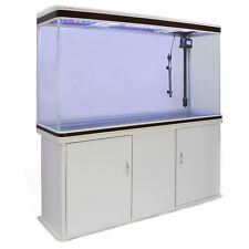 Aquarium à bords Blanc et Noisette de 300 Litres avec Meuble de Support Blanc