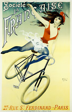 Societe La Francaise  Original Vintage Bicycle Poster - Cycling - PAL