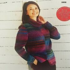 Sirdar Jewelspun  Paper Knitting Pattern 10030 Sweater Jumper