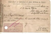 1910Application to the Registrar of High Court at Fort William for Search Report