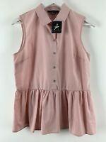 Womens Ladies Shirt Blouse Top Pink Atmosphere Size 12 Uk *F