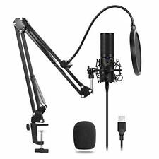 Tonor Usb Microphone Condenser Recording Aram Stand With Shock Mount