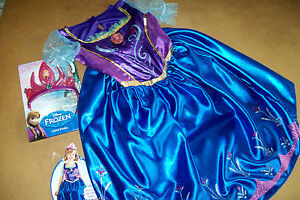 DISNEY PRINCESS ANNA BLUE FANTASY  DRESS (size 6-8)  + BONUS TIARA