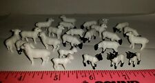 1/64 Ertl Farm Toy Qty Of 25 Assorted Black And White Sheep Lamb 4 Your Display