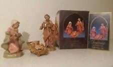 Fontanini The Holy Family 3 Piece 5� Heirloom Nativity by Roman 1992 71503 Hg47
