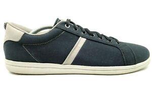 Crocs Logo Navy Blue Canvas Casual Lace Up Fashion Sneakers Shoes Men's 11