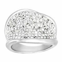Crystaluxe Ring with Swarovski Crystals in Sterling Silver