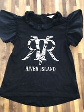 River Island Mini Girls Black Stunning Top Age 3-4 Excellent Condition