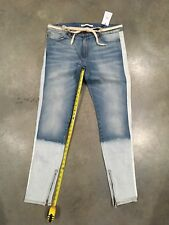 Golden Denim Light Wash/bleach Fade Tapered Jeans Sz.38 NWT 100% Authentic