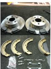 MERCEDES VITO  V CLASS 96-03 REAR BRAKE DISC PADS HANDBRAKE SHOES & FITTING KIT