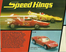 1974 MATCHBOX Catalog:SUPER KINGS,SUPERFAST,YESTERYEAR,SUPERSETS, DieCast's