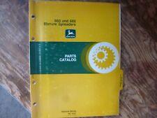 John Deere 660 680 Manure Spreader Parts Catalog Manual Book Original Pc-1637