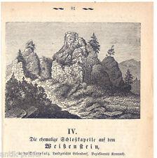 Weissenstein - Steinwald - Holzstich um 1875 Weißenstein