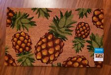 Pineapple Coir Welcome Mat Doormat Natural Tropical Front Entry Door Rug NEW
